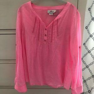 Vineyard Vines medium bright pink shirt
